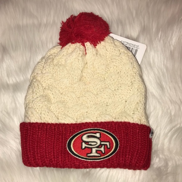 39bd802a0776fd NFL Accessories | Womens San Francisco 49ers Logo Knit Sock Hat New ...